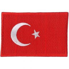 Iron-on patches flag Turkey - 5pcs