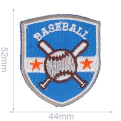 Iron-on patch baseball - 5pcs