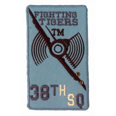 Iron-on patches Fighting Tigers light grey - 5pcs