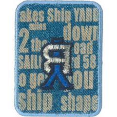 Iron-on patch BY - 5pcs
