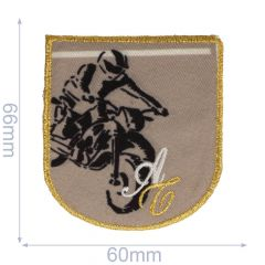 Iron-on patches Motorcycle racer - 5pcs