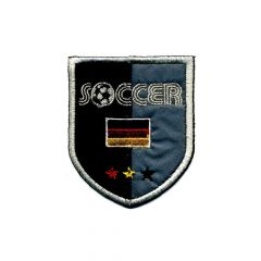 Iron-on patches SOCCER with German flag - 5pcs