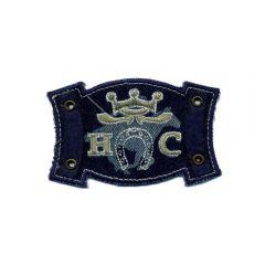 Iron-on patches horseshoe blue - 5pcs