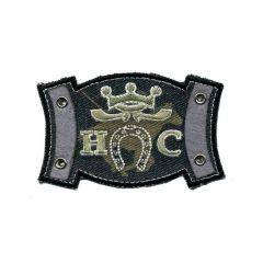 Iron-on patches horseshoe grey - 5pcs