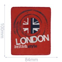 Iron-on patches LONDON british style - 5pcs