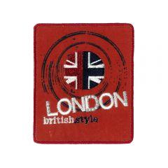 Iron-on patches LONDON british style - 5pcs