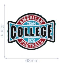 Iron-on patches American Football college