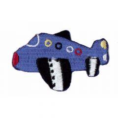 Iron-on patches Airplane dark blue - 5pcs