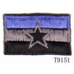 Iron-on patches flag with star - 5pcs