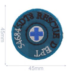 HKM Iron-on patch rescue 45x45mm - 5pcs