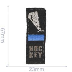 Iron-on patch hockey with beam - 5pcs