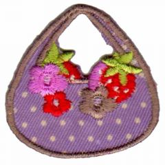 Iron-on patches Handbag with flowers - 5pcs