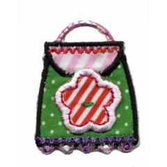Iron-on patches back pack with flower - 5pcs