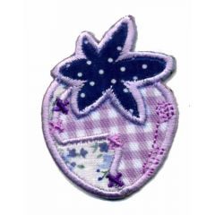 Iron-on patches Strawberry with flowers - 5pcs