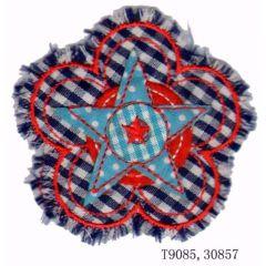 Iron-on patches flower with fringe - 5pcs
