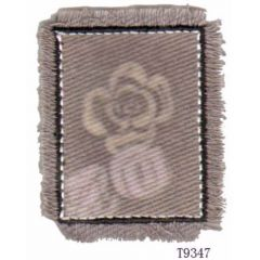 Iron-on patches flower pattern with fringe - 5pcs