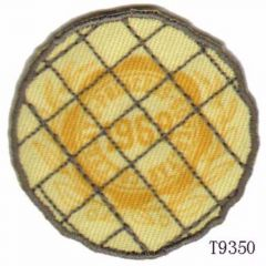 Iron-on patches 1968 wheat yellow round - 5pcs