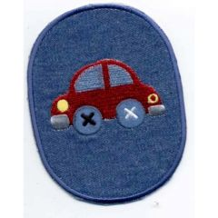 Iron-on patches car red - 5pcs