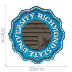 HKM Iron-on patch Richmond State University 55x55mm - 5pcs