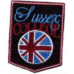 Iron-on patches Sussex College - 5pcs