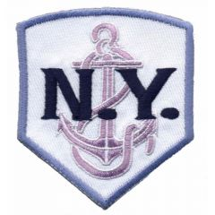 Iron-on patches N.Y. with-lilac - 5pcs