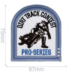 HKM Iron-on patch dirt track contest 67x75mm - 5pcs