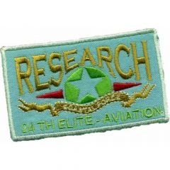 Iron-on patches RESEARCH - 5pcs