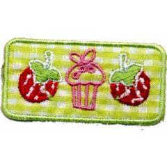 Iron-on patches Strawberry - Muffin - Strawberry - 5pcs