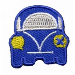 Iron-on patches car blue - 5pcs