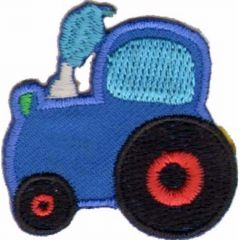 Iron-on patches Tractor blue - 5pcs