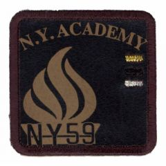 Iron-on patches N.Y. ACADEMY brown - 5pcs