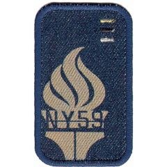 Iron-on patches NY59 blue 1 - 5pcs