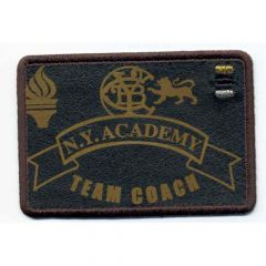 Iron-on patches N.Y. ACADEMY TEAM COACH brown - 5pcs