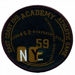 Iron-on patches Academy NY 59 brown - 5pcs