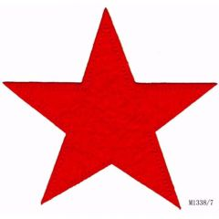 Iron-on patches star red (large) - 5pcs
