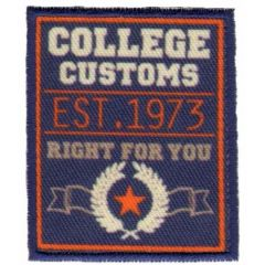 Iron-on patches College Customs - 5pcs