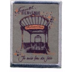 Iron-on patches France-print - 5pcs