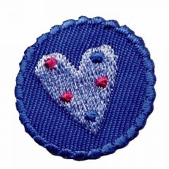 Iron-on patches heart and flower set 2 pcs - 5 sets