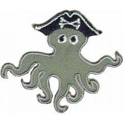 Iron-on patches Octopus Squid pirate - 5pcs
