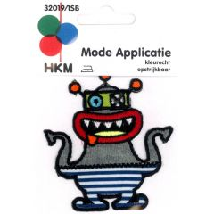 Iron-on patches monster with red mouth - 5pcs