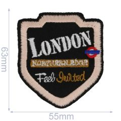 Iron-on patches London Feel Invited - 5pcs