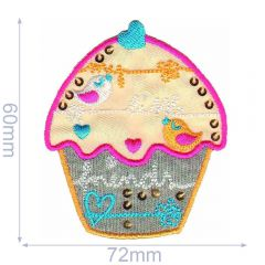 HKM Iron-on patch cupcake - 5pcs