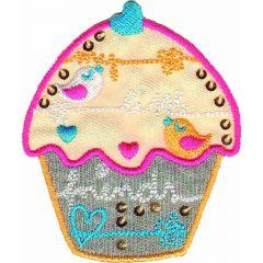 Iron-on patch muffin - 5pcs