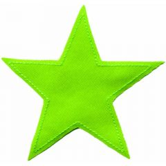 Iron-on patches Star lime green - 5pcs