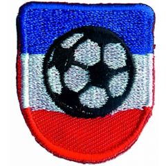 Iron-on patches football blue with red - 5pcs