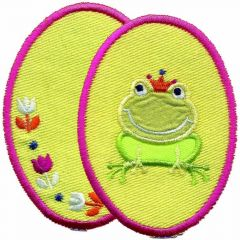 Iron-on knee patches frog 2 pcs - 5 sets