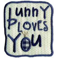 Iron-on patches Bunny Loves You - 5pcs