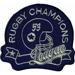 Iron-on patches Rugby Champions Jeans dark blue - 5pcs