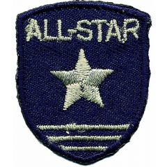 Iron-on patches shield blue jeans all star - 5pcs