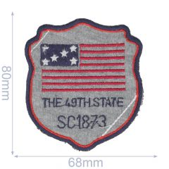 Iron-on patches Arms The 49th State - 5pcs